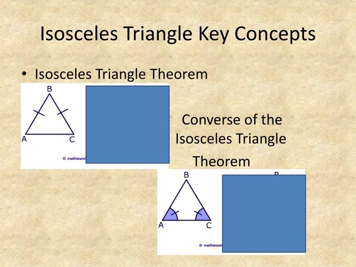 Isosceles Triangle Key Concepts