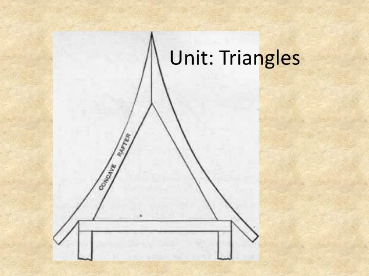 Unit triangles