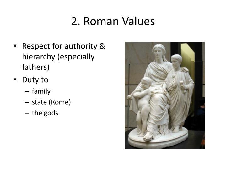 2. Roman Values