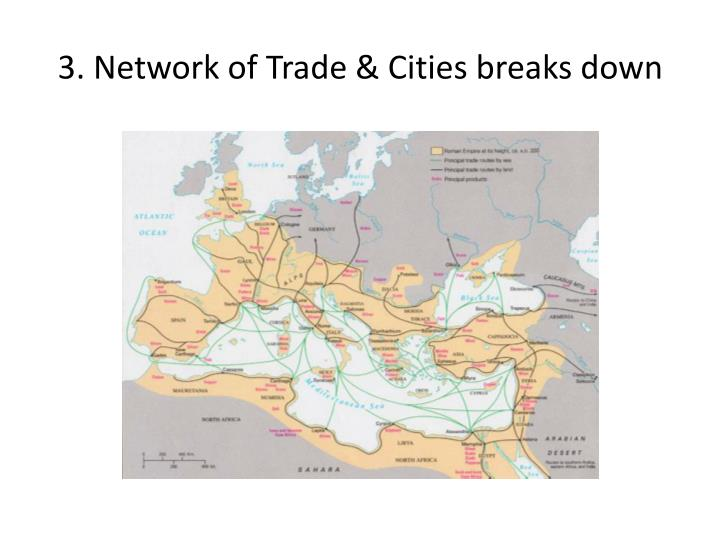 3. Network of Trade & Cities breaks down