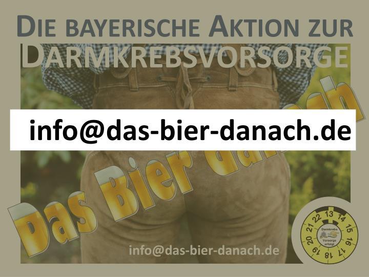 Die bayerische Aktion zur