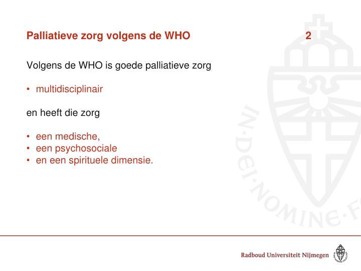 Palliatieve zorg volgens de WHO 2