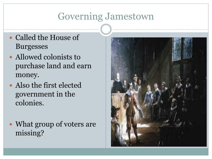 Governing Jamestown