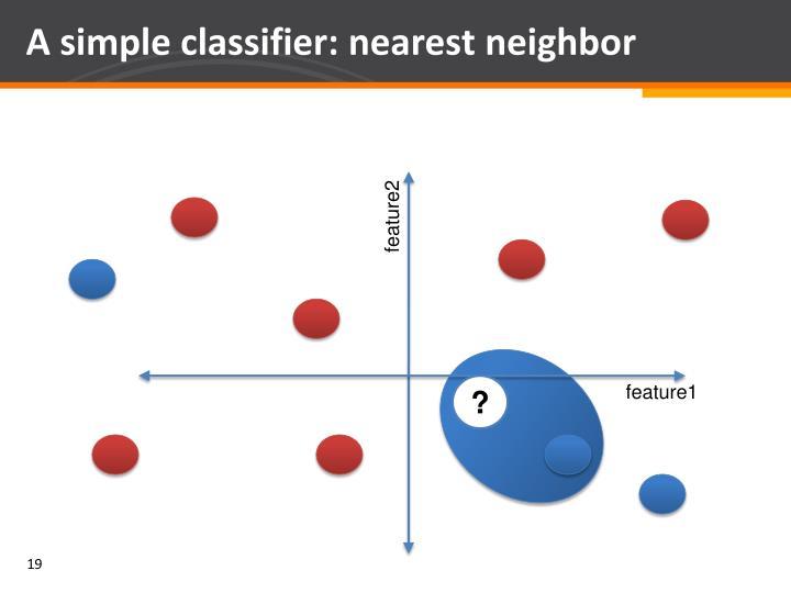 A simple classifier: nearest neighbor
