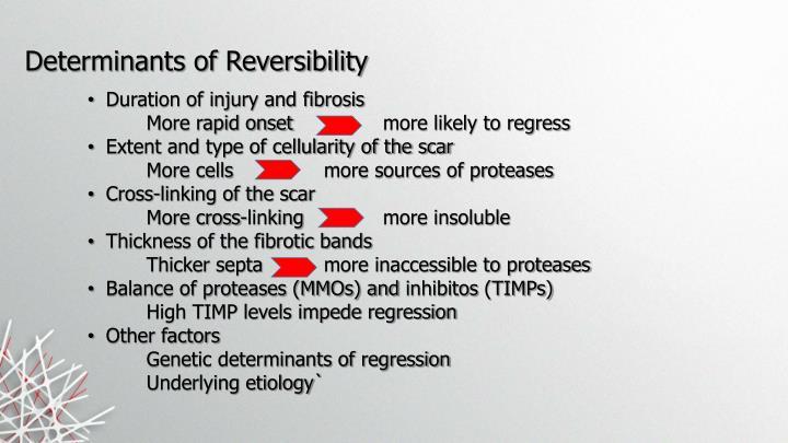 Determinants of Reversibility