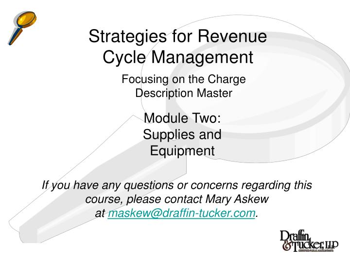 Strategies for Revenue Cycle Management