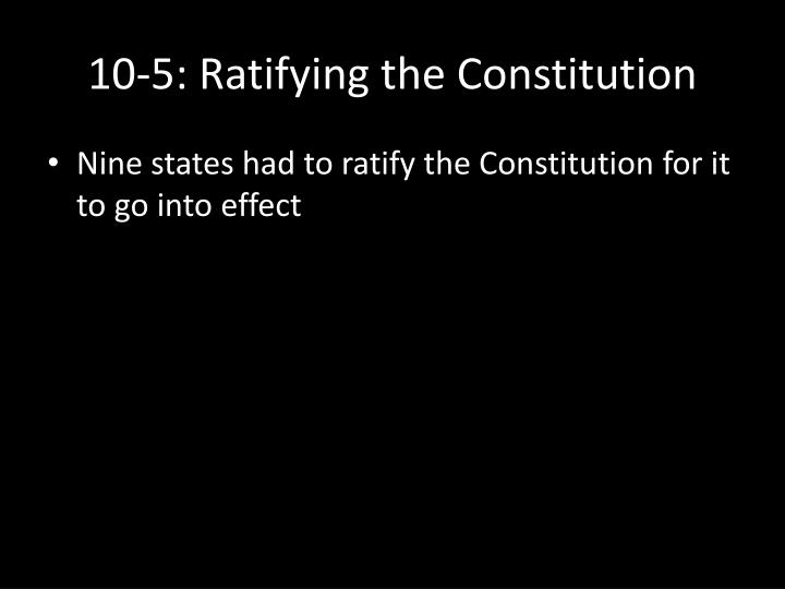 10-5: Ratifying the Constitution