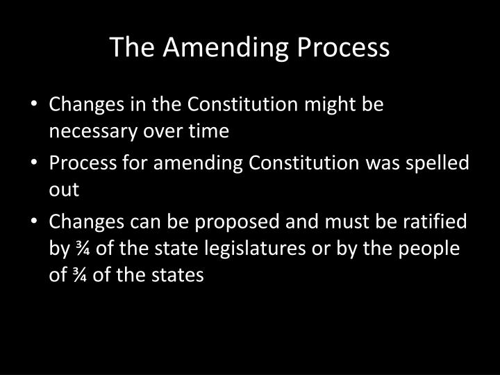 The Amending Process