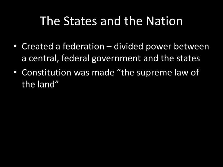 The States and the Nation