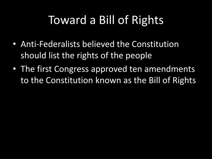 Toward a Bill of Rights