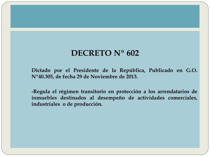 DECRETO Nº 602