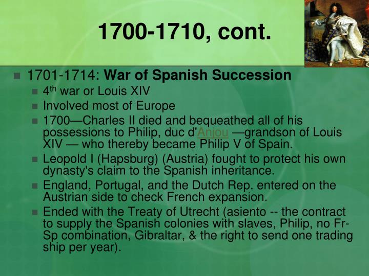 1700-1710, cont.