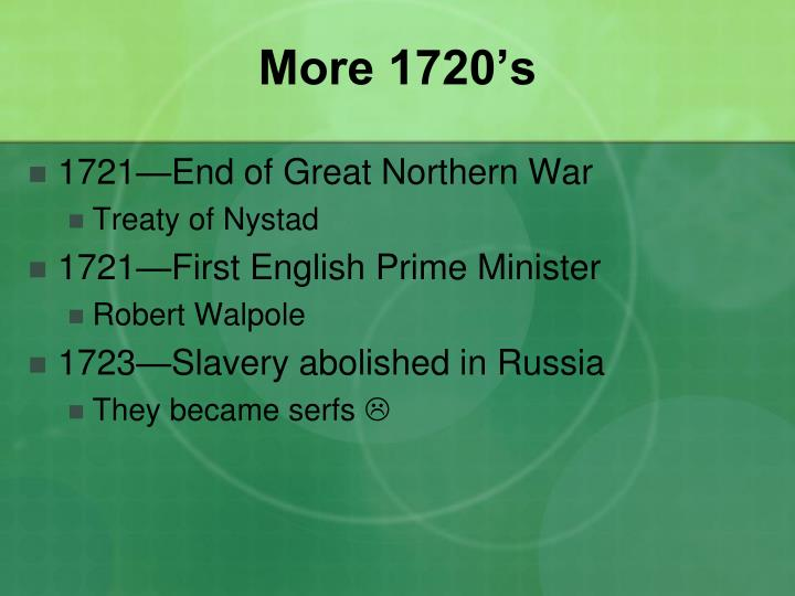 More 1720's