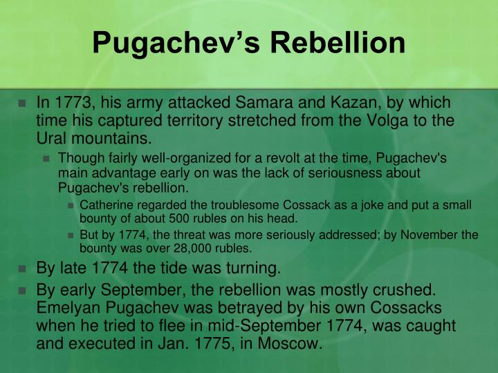 Pugachev's Rebellion