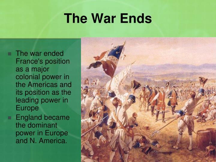 The War Ends