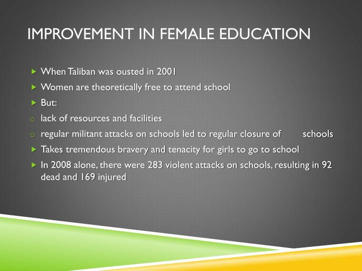 Improvement in female education