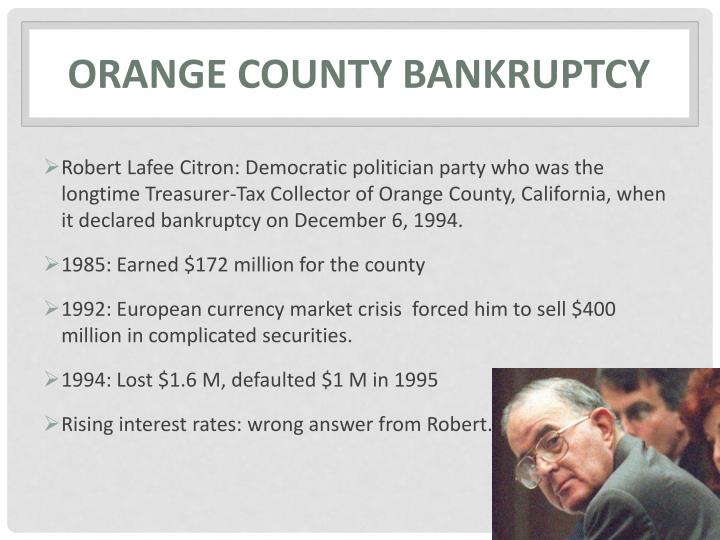 Orange county bankruptcy