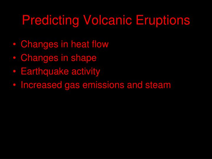 Predicting Volcanic Eruptions