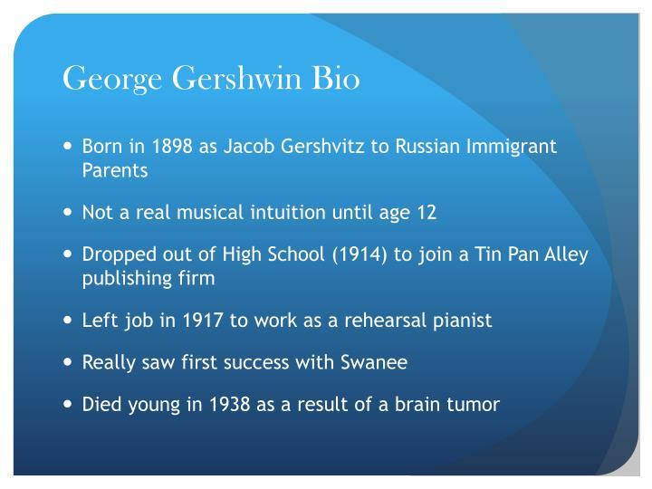 George Gershwin Bio