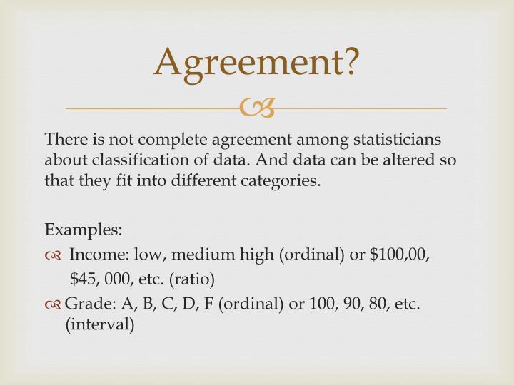 Agreement?