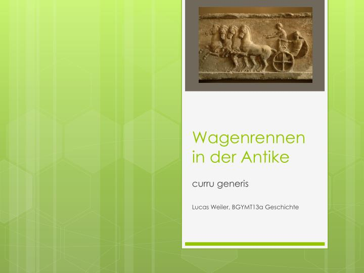 Wagenrennen in der antike