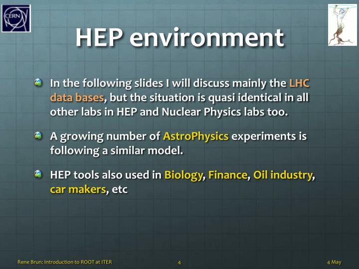 HEP environment