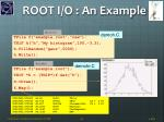 root i o an example