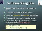 self describing files