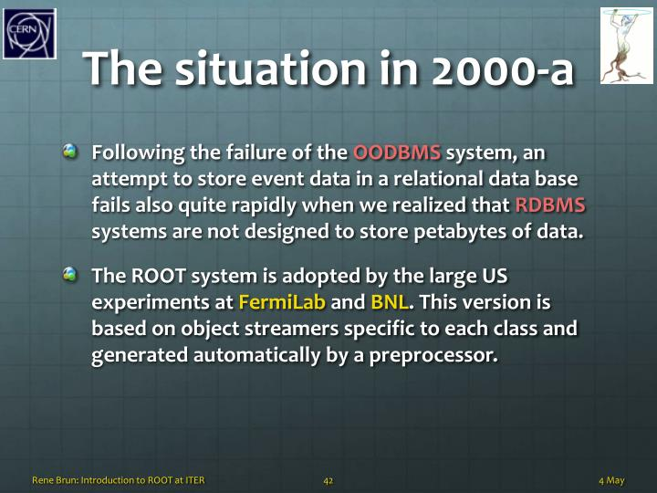 The situation in 2000-a