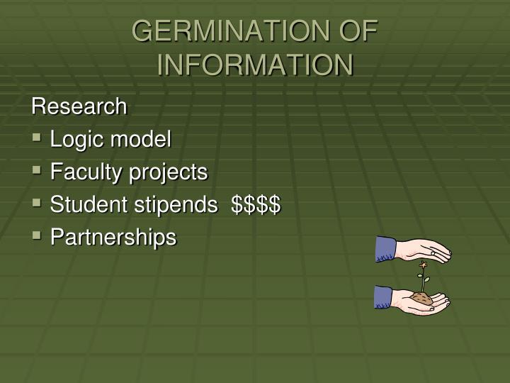 GERMINATION OF INFORMATION