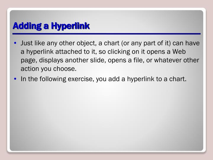Adding a Hyperlink