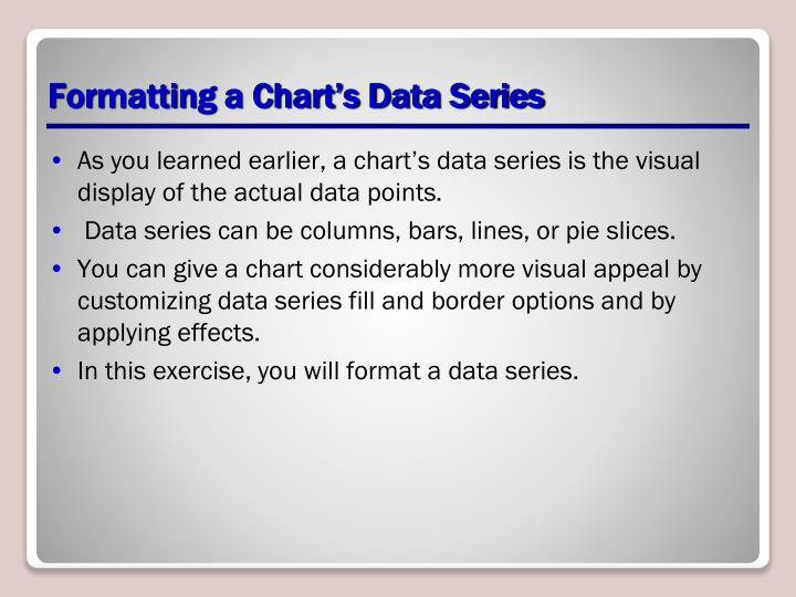 Formatting a Chart's Data Series
