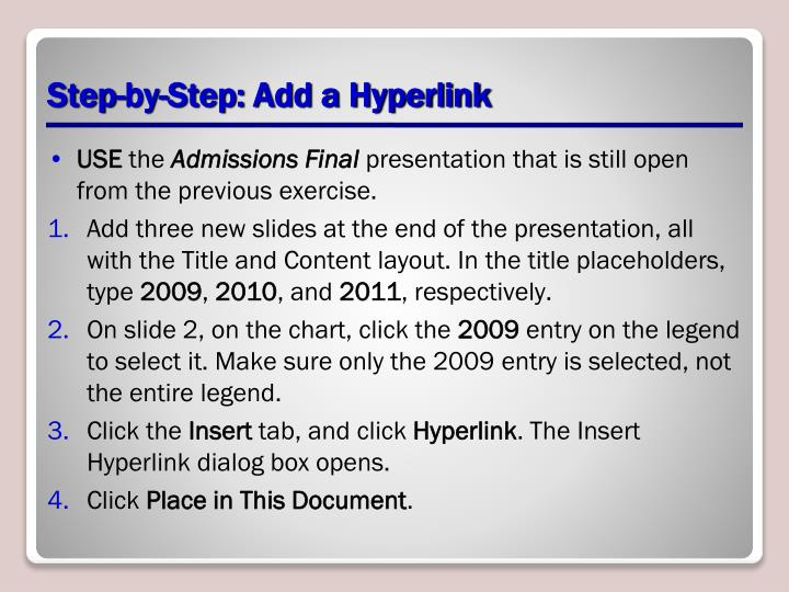 Step-by-Step: Add a Hyperlink