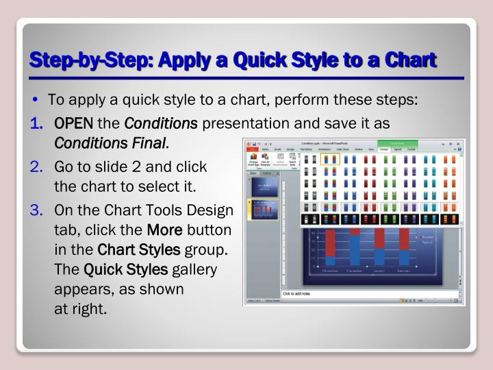 Step-by-Step: Apply a Quick Style to a Chart