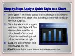 step by step apply a quick style to a chart1