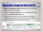 step by step change the chart area fill