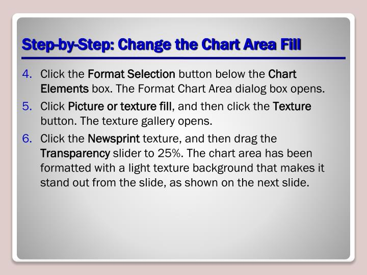 Step-by-Step: Change the Chart Area Fill