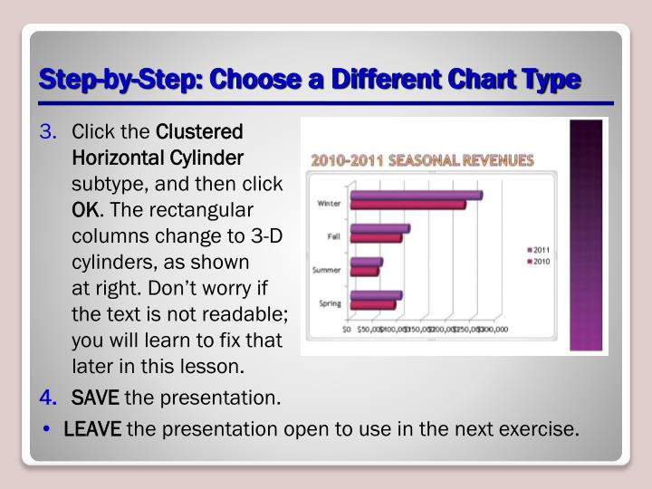 Step-by-Step: Choose a Different Chart Type