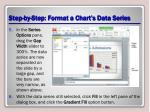 step by step format a chart s data series1