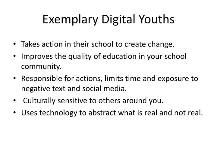Exemplary Digital Youths