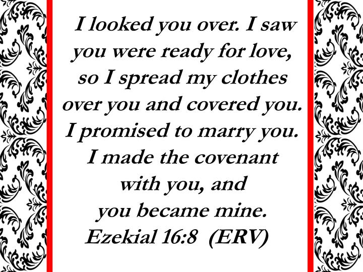 I looked you over. I saw you were ready for love,