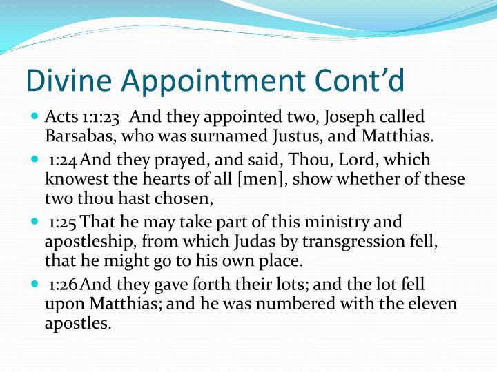 Divine Appointment Cont'd