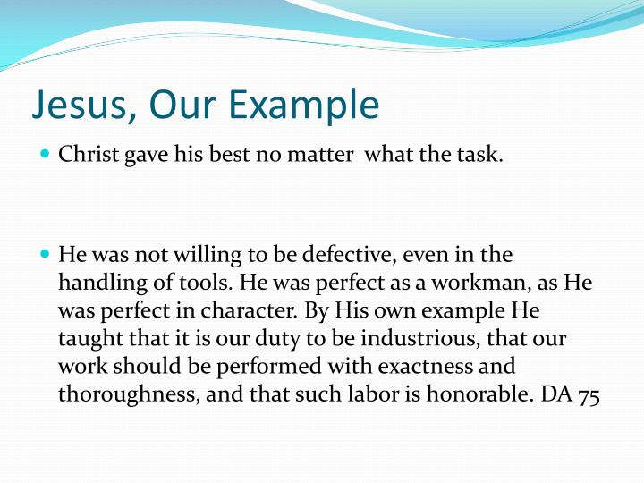 Jesus, Our Example