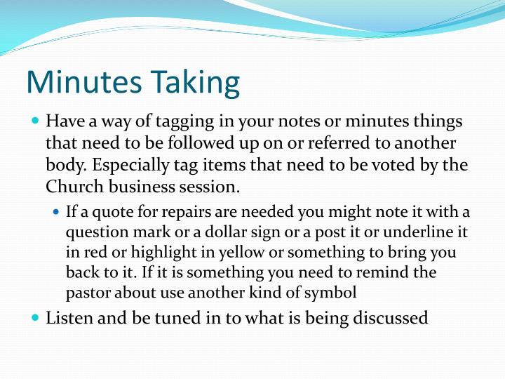 Minutes Taking