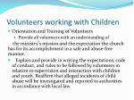 volunteers working with children4