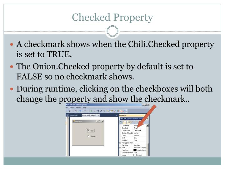 Checked Property