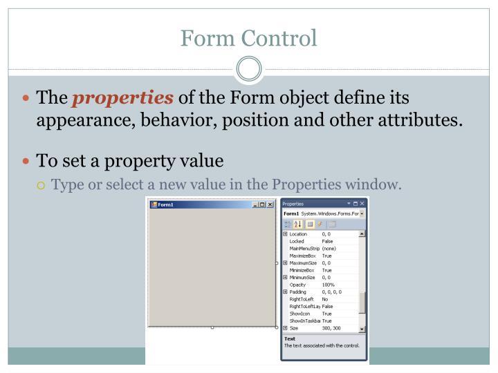Form Control