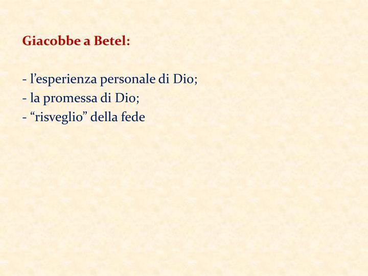 Giacobbe a Betel: