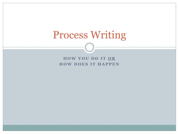 Process writing