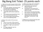 big bang exit ticket 25 points each